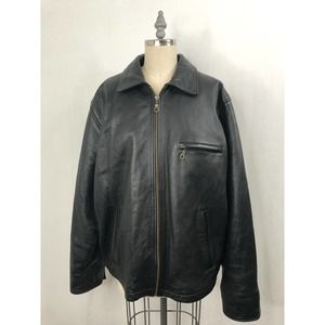 M Julian Wilsons • Black Vtg Leather Bomber Jacket